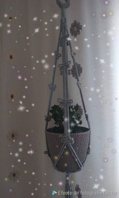 Plant Hanger, Macrame, My Etsy Shop, Unique Jewelry, Handmade Gifts, Plants, Check, Vintage, Home Decor
