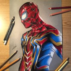 Spiderman art - Sister and Brother Spiderman Drawing, Spiderman Art, Avengers Art, Marvel Art, Art Sketches, Art Drawings, Marvel Paintings, Color Pencil Sketch, Marvel Coloring