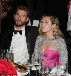 For a good cause: The couple watched the Oscars at their VIP table