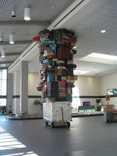 Suitcase Sculpture Where Else but at the airport. Sacramento Airport