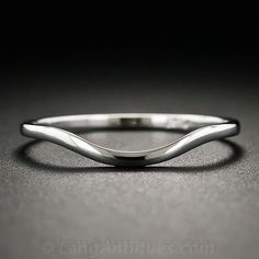 Platinum Contoured Wedding Band - 110-1-6022 - Lang Antiques