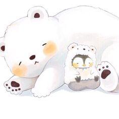 Cute Little Drawings, Cute Kawaii Drawings, Cute Animal Drawings, Kawaii Art, Pinguin Illustration, Cute Animal Illustration, Cute Kawaii Animals, Cute Baby Animals, Cute Images