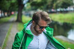 Get the classic rainwear look, with a modern twist. Rain Jackets, Rain Wear, Raincoat, Adventure, Classic, Green, Collection, Fashion, Rain Jacket