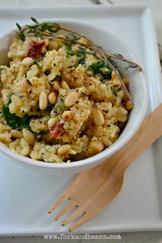 """Cauliflower """"Risotto""""  Gluten, egg, and Dairy free from-Fork and Beans! (Nice play on works!)"""