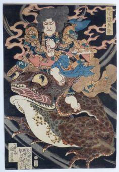Hasil gambar untuk japanese frog art