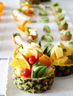 Veggie Recipes, Baby Food Recipes, Cooking Recipes, Veggie Food, Cooking Tips, Fruit Plate, Fruit Art, Fruit Trays, Tropical Fruit Salad