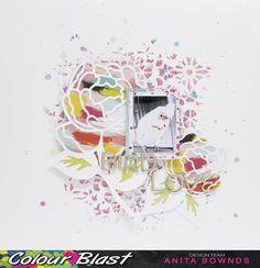 Bird love layout by Anita Bownds #pinkpaislee