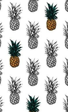 Pineapple Art Print by Eloise Roberts, via Society 6 Pineapple Tattoo, Pineapple Art, Pineapple Pattern, Cute Wallpapers, Wallpaper Backgrounds, Iphone Wallpaper, Textures Patterns, Print Patterns, Pineapple Backgrounds