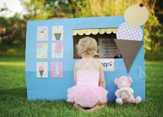 This would be cute to make felt ice cream. Ice cream station - make believe for kids