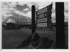 In 1942, still reeling from the attack on Pearl Harbor, the U.S. government ordered thousands of Japanese Americans to leave their homes behind and take up residence in remote detainment camps. About two thirds of them were U.S. citizens. Photo by Ansel Adams.