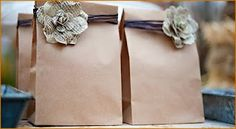 Country chic baby shower planning: give away bags for games