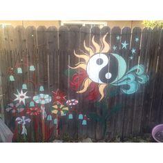 Painted fence (LA)