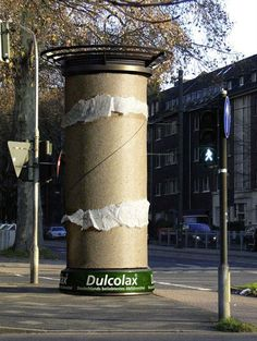 Eye catching offline marketing from Dulcolax