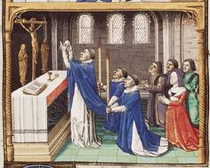 The Hague, MMW, 10 A 11 fol. 39r Book 1, 36 Consecratio during Holy Mass (2nd of 2)