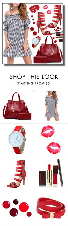 """dress by twinkledeals"" by teto000 ❤ liked on Polyvore featuring Kevyn Aucoin and Salvatore Ferragamo"