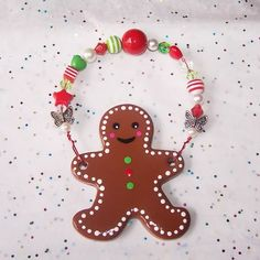 Clay gingerbread man Christmas ornament ~Craftster.org