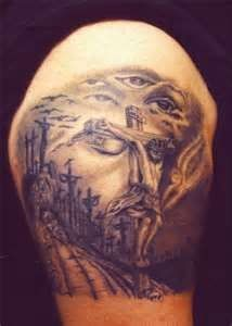 """""""Jesus Cross Tattoo Designs Tattoos not that I would ever actually get this done, but it is an amazing tattoo. Small Girl Tattoos, Tattoos For Guys, Jesus Tattoo Design, Cross Tattoo Designs, Cross Tattoos, Famous Tattoos, Samurai Tattoo, Religious Tattoos, Make Tattoo"""