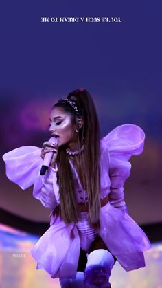 Ariana Grande Lyrics, Bae, Ariana Grande Sweetener, Ariana Grande Wallpaper, Ariana Grande Pictures, Purple Aesthetic, Photo Couple, Love Her Style, Female Singers