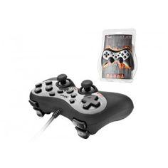 Robusto panel digital de juegos de 8 direcciones, con 2 joysticks analógicos y 15 botones; para su uso con PC y Playstation 3