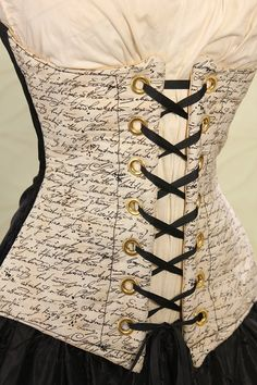 Waist 41 to 43  Anguished Love Letter Corset by damselinthisdress, $99.00