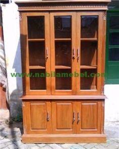 Lemari Buku Jati Minimalis produk furniture jepara dengan bahan baku kayu jati produk terbaru mebel jepara kami jual dengan harga murah