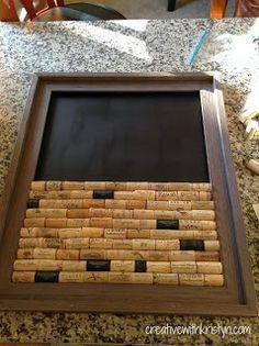Creative with Kristyn - Wine Cork DIY