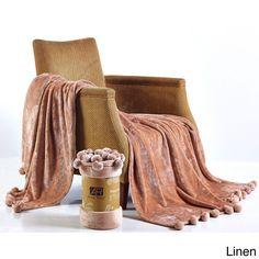 Orient Anna Ricci Soft Velvet Pom Pom Blanket