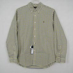 Polo Ralph Lauren Shirt Men's Long Sleeve Plaid Oxford Shirt Size XL NEW #PoloRalphLauren #ButtonFront 34.99