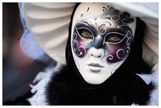 bella máscara de carnaval de Venecia