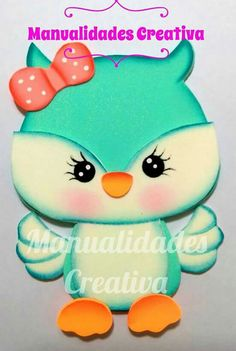Foam Crafts, Diy And Crafts, Crafts For Kids, Little Girl Birthday, Kids Birthday Cards, Baby Owls, Felt Fabric, Nature Crafts, Scrapbook Albums