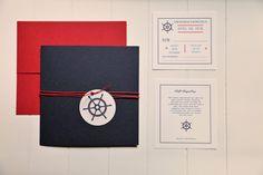 Baby shower nautical invitation