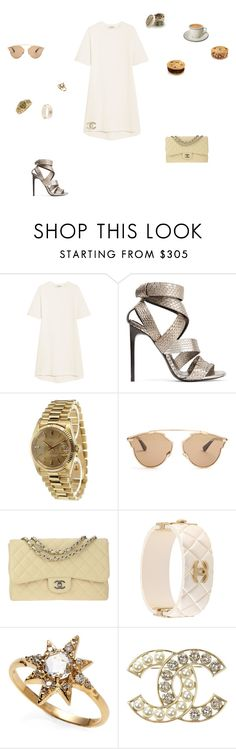 """""""stargirl"""" by leafmarie ❤ liked on Polyvore featuring Balenciaga, Tom Ford, Rolex, Christian Dior, Chanel and Anzie"""
