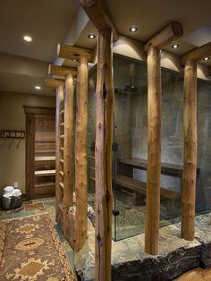 Rustic bathroom design is particularly common in areas where the outdoors are, well, just a step outside. Check these 25 Rustic Bathroom Design Ideas. Rustic Bathroom Designs, Eclectic Bathroom, Rustic Bathrooms, Dream Bathrooms, Amazing Bathrooms, Shower Designs, Bathroom Ideas, Shower Ideas, Design Bathroom