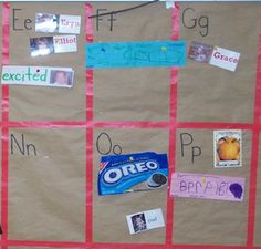 A word wall in preschool is a bit different. This is a very child-oriented… Preschool Word Walls, Preschool Literacy, Preschool Lessons, Pre Writing, Writing Workshop, Teaching Strategies Gold, Interactive Word Wall, Effective Teaching, Kids