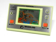 "80s Retro Masudaya LCD Game Watch ""Play & Time"" Grass Land MIJ Great Condition #Masudaya"