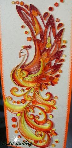 paper quilled firebird - Google Search