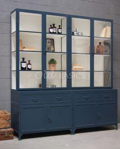 Apothekerskast Ferro 4-5008 | 1-1606-035 | Old BASICS Furniture Makeover, Home Furniture, Painted Furniture, Home Office Design, House Design, Interior Design Living Room, Interior Decorating, Life Space, Built In Cupboards