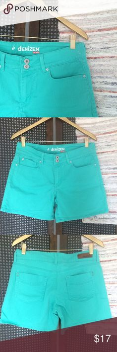 """Teal High Waisted Shorts Vintage style shorts. Teal in color. Great condition. 16"""" waist 9"""" rise 5"""" inseam.  •I don't swap/trade •I don't do holds  •I rarely model due to the fact that I don't fit all items.  •I price with shipping in mind  •I am open to reasonable negotiations  •Bundle for the best deals  ☮   ❤️   😊 Levi's Shorts Jean Shorts"""
