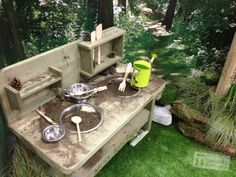 inspiration ~ Mud kitchen from timotayplayscapes.co.uk