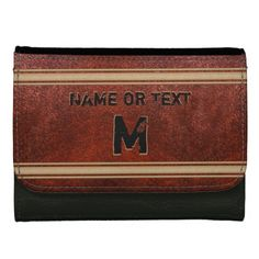 Personalized Monogram Leather Wallet for Men or choose another style from real leather wallets, faux leather. NAME and Monogram or Initials on Sports Leather Wallet CLICK: http://www.zazzle.com/pd/spp/pt-photousa_wallet?dz=d0eb03f6-3bdb-4c6a-b3d0-6d419c048397&clone=true&pending=true&style=leather_medium&color=black&design.areas=%5Bphotousa_wallet_leatherette_medium_front%5D&CMPN=shareicon&lang=en&social=true&view=113921238607628710&rf=238012603407381242 Personalized Christmas Gifts for Him.