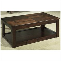 Somerton Dwelling Serenity Lift Top Rectanglular Coffee Table in Burgundy - 415-15 - Lowest price online on all Somerton Dwelling Serenity Lift Top Rectanglular Coffee Table in Burgundy - 415-15