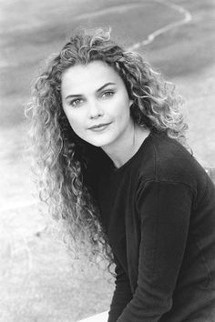 pretty much to soul reason i grew out my bangs in high school and stopped fighting my curly hair- keri russell