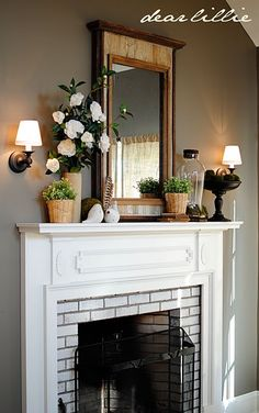 This is the Fireplace I want in my bedroom!!!