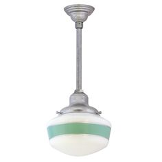 Primary Schoolhouse Stem Mount Pendant Light | Barn Light Electric