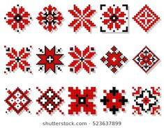 Find Vector Traditional Elements Ukrainian Ornament Decorative stock images in HD and millions of other royalty-free stock photos, illustrations and vectors in the Shutterstock collection. Thousands of new, high-quality pictures added every day. Cross Stitch Thread, Cross Stitch Borders, Cross Stitch Flowers, Cross Stitch Designs, Cross Stitching, Cross Stitch Patterns, Hand Embroidery Flowers, Folk Embroidery, Hand Embroidery Stitches