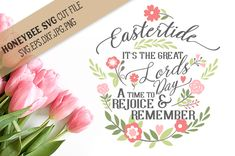 Eastertide The Great Lords Day cut file By Honeybee SVG
