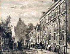 Achterstraat met Doelen en Koepoort (Cornelis Springer, 1874)
