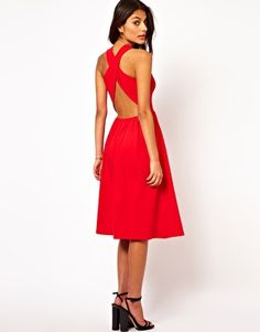 ASOS Midi Sundress With Wrap Back...Love the simplicity of the front & adore the backless element at the back.