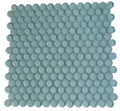 Shop For Loft Adriatic Mist Penny Round Glass Tiles at TileBar.com