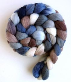 Tile Mosaic, Polwarth/Silk Roving  Handpainted Spinning or by threewatersfarm, $22.95